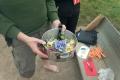 Team Eins Etappe 5: Boretschblüten im Salat. Toll, wenn man mindestens eine kräuterkundige Person dabei hat!