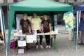 Kilian, Hannah und Annika am MUT-TOUR-Stand. Foto: Claudia A.-Cruz