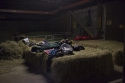 Mit Hunderten von PS wurde uns das Kornfeldbett errichtet.