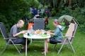 Zu dem Zeitpunkt wußten wir bereits, dass wir in Bonn bei einem Freund des Projektes unterkämen – mit tollen Garten mit allem drum und dran.