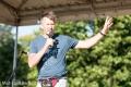 Martin Schultz, Initiator des BERLINER MUT-LAUFs und Mitorganisator auch des 2. MUT-LAUFS in seinem Element: Moderation und Bühnen-PräsentationFoto © Andreas Stenzel / BikeBlogBerlin