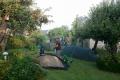 In Otterndorf zelten wir im Garten des Blauen Hauses (-: