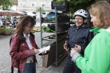 Depressionserfahrene Teilnehmer berichten täglich der Lokalpresse, wie sie die Depression in den Griff bekommen haben (Foto: Sebastian Burger)