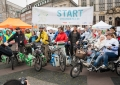 Mitfahr-Aktion Bremen 2014; Senioren kommen auf Pedelec-Parallel-Tandems mit (Foto: Claudia Aguilar-Cruz)