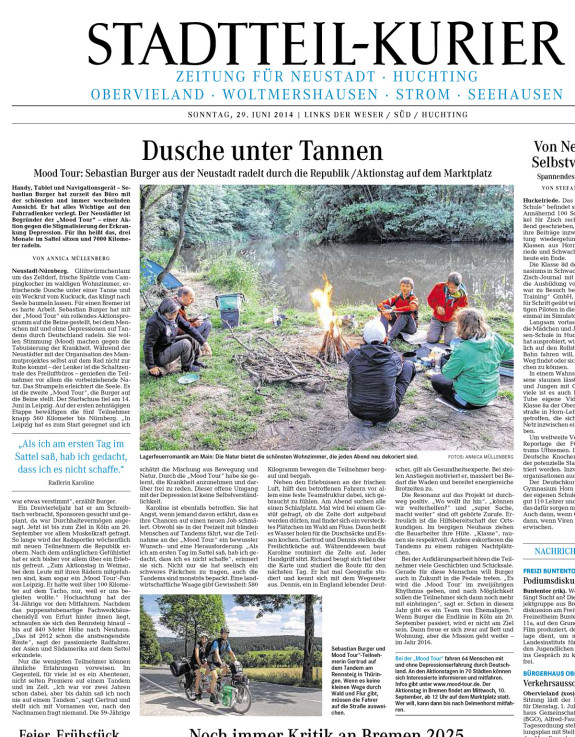 Weser Kurier Stadtteil-Kurier vom 29.6.2014