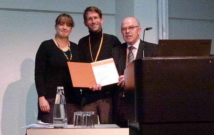 Stefanie Vilsmaier, Sebastian Burger und Prof. Dr. Gaebel (Antistigma-Preis 2015)