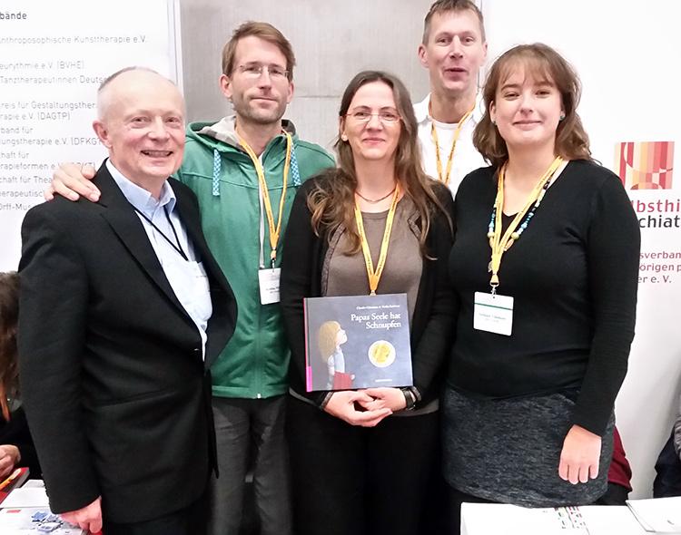 Martin, Sebastian, Claudia, Martin und Steffi bei der DGPPN-Messe 2015
