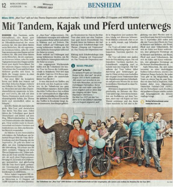 Bergsträßer Anzeiger vom 11.1.17 - Klick öffnet die Online-Ausgabe