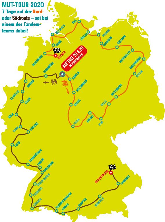 Route der MUT-TOUR 2020
