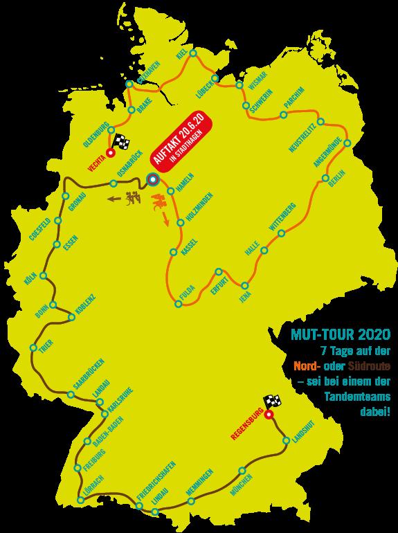 Streckenverlauf MUT-TOUR 2020, transparent