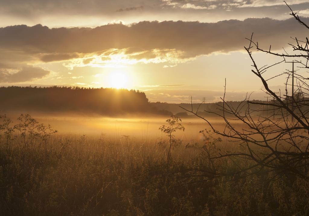 Sonnenuntergang als Sinnbild für Achtsamkeit