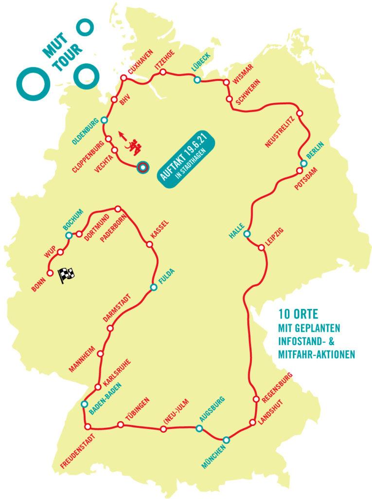 MUT-TOUR Streckenverlauf 2021