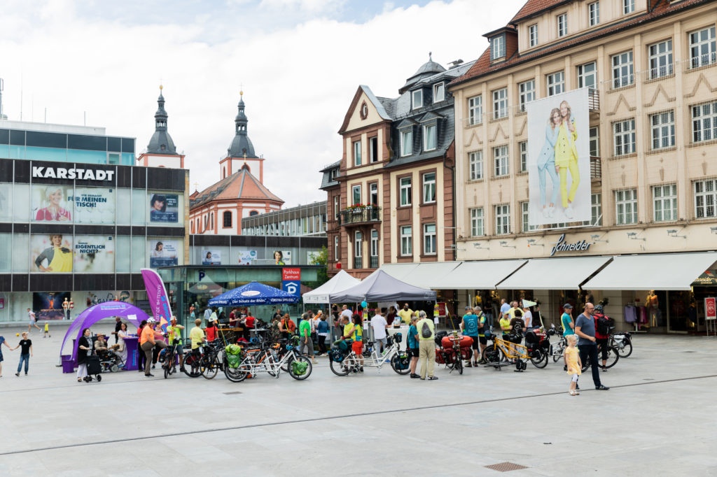 Aktionstag in Fulda, Start der MUT-TOUR 2020