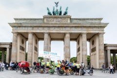 Die Mitfahraktion in Berlin  / MUT-TOUR 2019 (Foto: Andreas Stenzel)