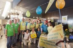 Das Team, das den MUT-TOUR-Infostand beim Patientenkongress der Erkankung Depression 2017 betreut hat (Foto: Sebastian Burger)